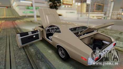 Ford Gran Torino Sport SportsRoof (63R) 1972 PJ2 pour GTA San Andreas vue intérieure