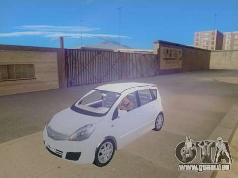 Nissan Note v1.0 Final pour GTA San Andreas