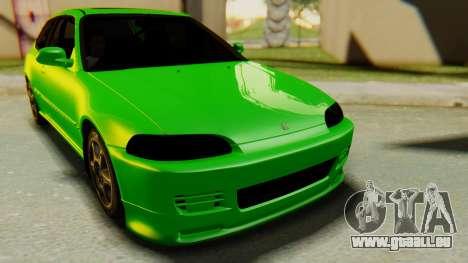 Honda Civic Vti 1994 V1.0 für GTA San Andreas rechten Ansicht
