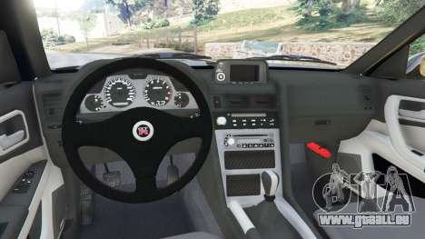 GTA 5 Nissan Skyline GT-R (R34) 1999 arrière droit vue de côté