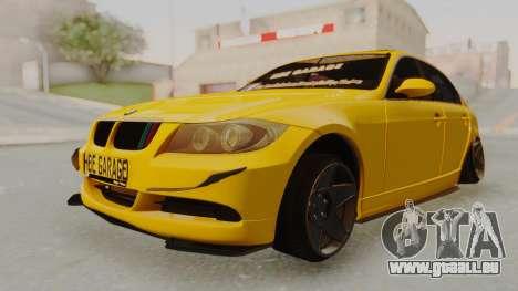BMW M3 E90 pour GTA San Andreas vue de droite