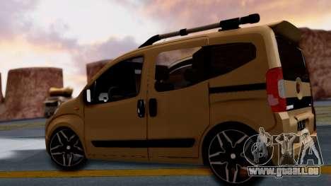 Fiat Fiorino pour GTA San Andreas sur la vue arrière gauche
