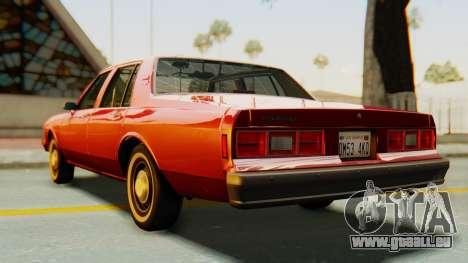 Chevrolet Impala 1984 pour GTA San Andreas sur la vue arrière gauche