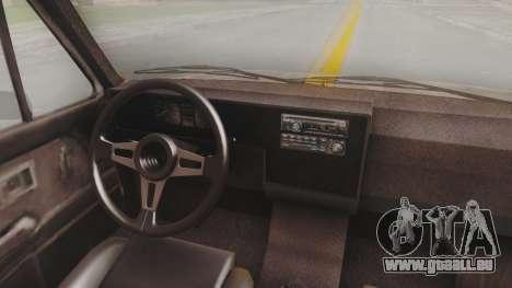 Volkswagen Caddy Military Vehicle pour GTA San Andreas vue arrière