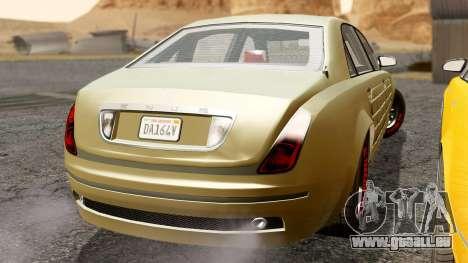 GTA 5 Enus Cognoscenti L Arm IVF für GTA San Andreas zurück linke Ansicht
