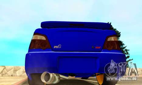 Subaru Impreza WRX STI Spec-C pour GTA San Andreas vue de droite