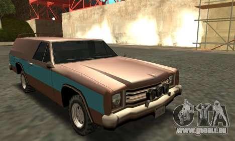 Picador Vagon Extreme pour GTA San Andreas vue arrière