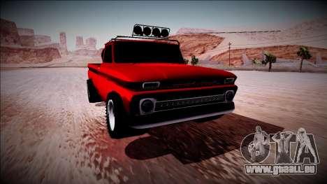 Chevrolet C10 Rusty Rebel pour GTA San Andreas vue intérieure