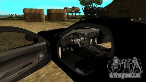 Mazda RX-7 Rusty Rebel pour GTA San Andreas vue de dessous