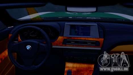 BMW M6 F13 Gran Coupe 2014 Dubai Police pour GTA San Andreas vue de droite