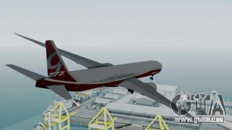 Boeing 777-9x House pour GTA San Andreas vue de droite