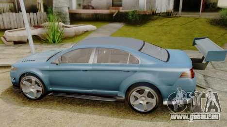 GTA 5 Vapid Greenwood pour GTA San Andreas sur la vue arrière gauche