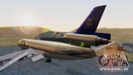 McDonnell-Douglas DC-10-30 Saudia für GTA San Andreas linke Ansicht