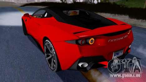 Arrinera Hussarya v2 Carbon pour GTA San Andreas sur la vue arrière gauche