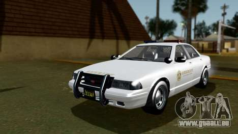 GTA 5 Vapid Stanier II Sheriff Cruiser IVF pour GTA San Andreas