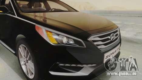 Hyundai Sonata Turbo 2.0 2015 V1.0 Final für GTA San Andreas Rückansicht