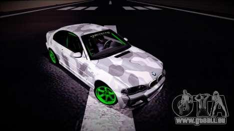 BMW M3 E46 Drift Monster Energy pour GTA San Andreas vue de droite