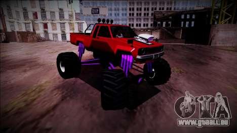 GTA 5 Karin Rebel Monster Truck pour GTA San Andreas vue de droite