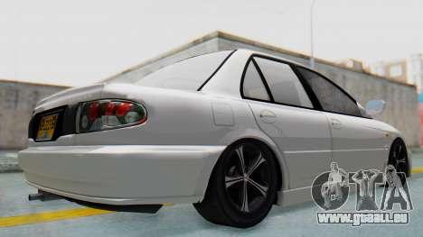 Mitsubishi Lancer pour GTA San Andreas laissé vue