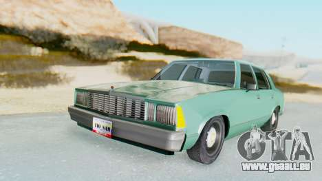 Chevrolet Malibu 1981 Twin Turbo für GTA San Andreas
