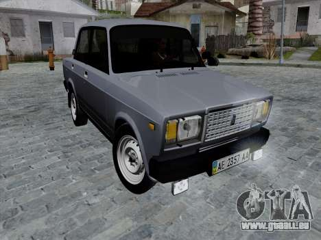 Ваз 21074 Beige Beauté v2 pour GTA San Andreas sur la vue arrière gauche