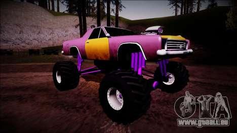 Picador Monster Truck pour GTA San Andreas vue de droite