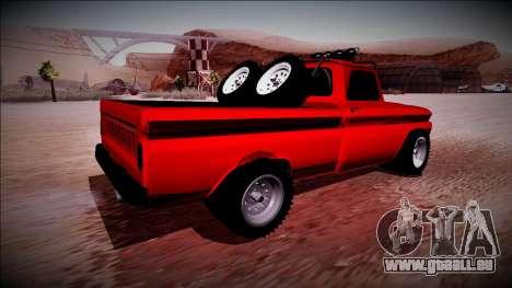 Chevrolet C10 Rusty Rebel pour GTA San Andreas sur la vue arrière gauche