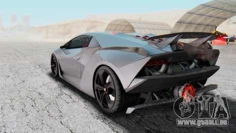 Lamborghini Sesto Elemento 2010 pour GTA San Andreas sur la vue arrière gauche