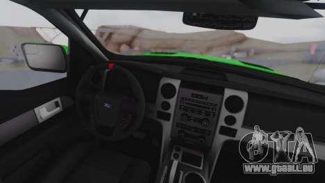 Ford F-150 SVT Raptor 2012 pour GTA San Andreas vue de droite