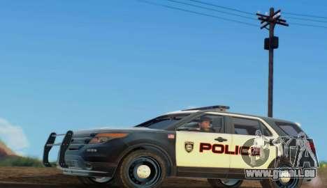 Ford Explorer Police pour GTA San Andreas laissé vue