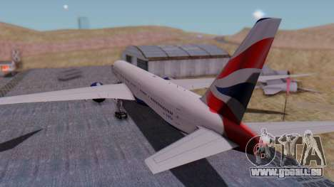Boeing 777-9x British Airways für GTA San Andreas linke Ansicht