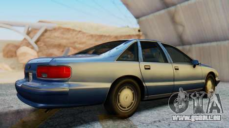 Chevrolet Caprice 1993 pour GTA San Andreas vue de droite