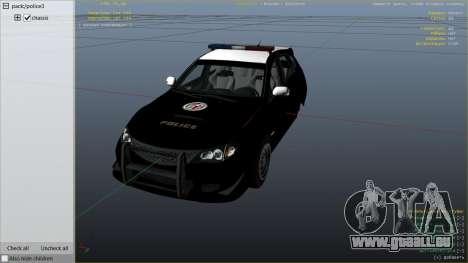GTA 5 LAPD Subaru Impreza WRX STI rechte Seitenansicht