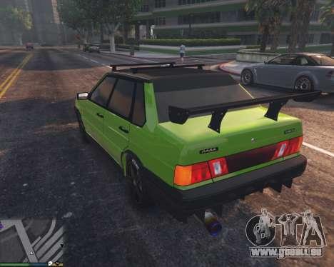 GTA 5 VAZ 2115 arrière vue latérale gauche