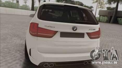 BMW X5M pour GTA San Andreas sur la vue arrière gauche
