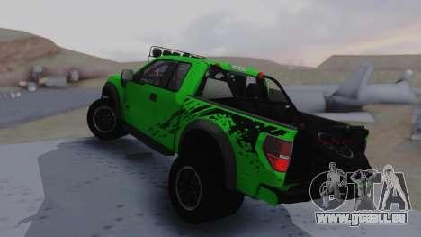 Ford F-150 SVT Raptor 2012 pour GTA San Andreas laissé vue