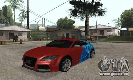 Audi TT-RS Tunable pour GTA San Andreas sur la vue arrière gauche