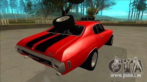 Chevrolet Chevelle Rusty Rebel pour GTA San Andreas moteur