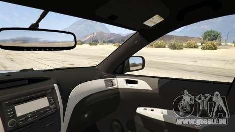 GTA 5 LAPD Subaru Impreza WRX STI hinten rechts