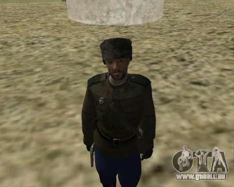 La collection de Soldats de l'armée rouge pour GTA San Andreas quatrième écran