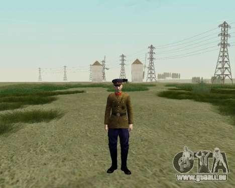 La collection de Soldats de l'armée rouge pour GTA San Andreas neuvième écran