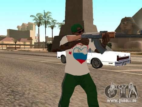 T-shirt j'aime la Russie pour GTA San Andreas troisième écran