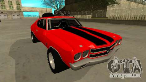Chevrolet Chevelle Rusty Rebel pour GTA San Andreas vue de dessous
