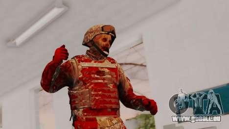 Zombie Military Skin pour GTA San Andreas
