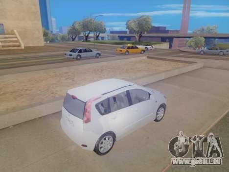 Nissan Note v1.0 Final pour GTA San Andreas sur la vue arrière gauche