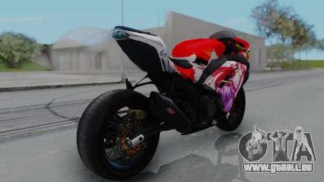 Kawasaki Ninja FI Custom Rias Gremory Itasha pour GTA San Andreas laissé vue
