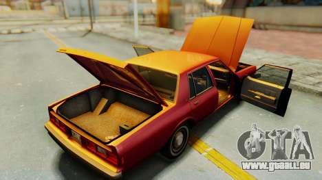 Chevrolet Impala 1984 pour GTA San Andreas vue de côté