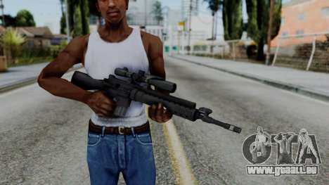 Arma AA MK12 SPR pour GTA San Andreas troisième écran