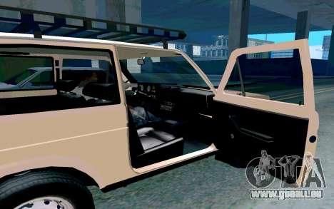 VAZ Niva pour GTA San Andreas vue intérieure