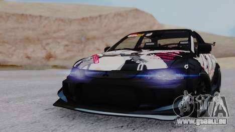 Mitsubishi Lancer Evo IX MR Tobiichi Origami für GTA San Andreas linke Ansicht